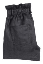 Short linen shorts - Black - Ladies | H&M CN 3