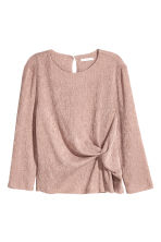 Crinkled jersey top - Light pink -  | H&M CN 2
