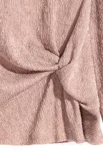 Crinkled jersey top - Light pink -  | H&M GB 3