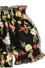 Off-the-shoulder top - Black/Floral - Ladies | H&M 3