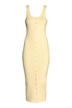 Ribbed jersey dress - Light yellow - Ladies | H&M CN 2
