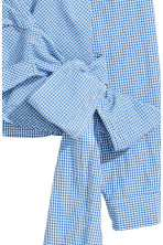 Wrapover blouse - Blue/White/Checked - Ladies | H&M CN 3