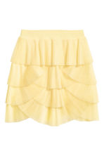 Pleated tulle skirt - Light yellow - Ladies | H&M 2