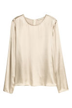 Long-sleeved blouse - Light beige - Ladies | H&M CN 1