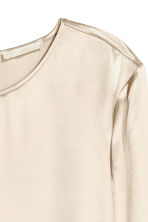 Long-sleeved blouse - Light beige -  | H&M CN 2
