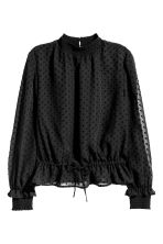 Textured blouse - Black - Ladies | H&M CN 2