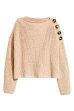Boatneck jumper - Light beige - Ladies | H&M 2