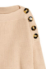 Boatneck jumper - Light beige - Ladies | H&M 3