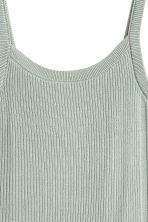 Fine-knit strappy top - Dusky green -  | H&M CN 3