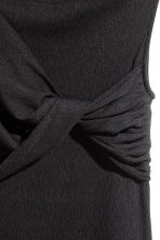 Crêpe jersey top - Black -  | H&M 3