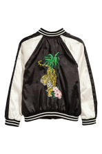 Embroidered baseball jacket - Black - Kids | H&M 3
