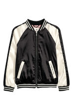 Embroidered baseball jacket - Black - Kids | H&M CN 2