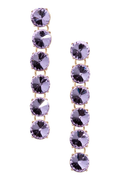 Sparkly earrings - Purple/Gold - Ladies | H&M 1