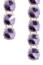 Sparkly earrings - Purple/Gold - Ladies | H&M 2
