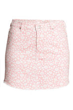 H&M+ 印花丹寧牛仔裙 - Light pink/Floral - Ladies | H&M 1