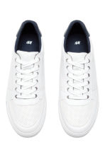 Perforated trainers - White - Men | H&M 2