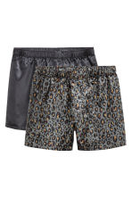 2-pack boxer shorts - Black/Leopard print - Men | H&M CN 2