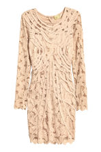 Short lace dress - Light beige - Ladies | H&M 2