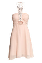 Short halterneck dress - Powder pink - Ladies | H&M 2