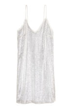 Sequined dress - White - Ladies | H&M CA 2