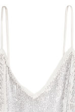 Sequined dress - White - Ladies | H&M CA 3