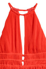 Pleated dress - Red -  | H&M 3