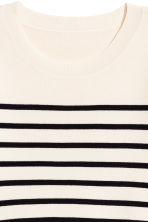 Fine-knit jumper - Natural white/Striped - Ladies | H&M 3