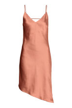 Asymmetric satin dress - Rust - Ladies | H&M 2