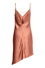 Asymmetric satin dress - Rust - Ladies | H&M 3