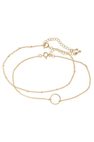 2-pack anklets - Gold - Ladies | H&M CN 1