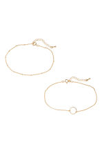2-pack anklets - Gold - Ladies | H&M CN 2