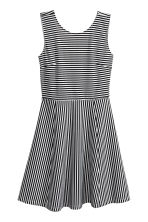 Short jersey dress - White/Striped - Ladies | H&M 2