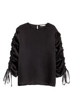 Blouse with drawstrings - Black - Ladies | H&M 2