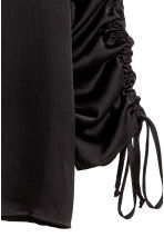 Blouse with drawstrings - Black - Ladies | H&M 3