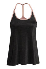 Sports top with sports bra - Black marl - Ladies | H&M 2