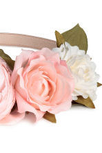 Hairband with flowers - Powder pink/White - Ladies | H&M CN 2