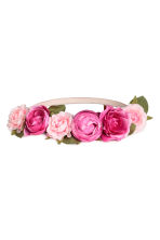 Hairband with flowers - Pink/Cerise - Ladies | H&M 1