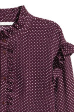 荷葉邊女衫 - Plum/Spotted -  | H&M 3