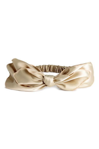 Hairband with a bow - Beige -  | H&M 1