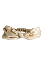 Hairband with a bow - Beige - Ladies | H&M CN 1