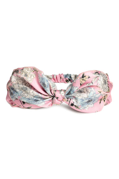 Hairband with a bow - Light pink/Floral - Ladies | H&M CN 1