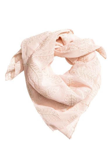 Embroidered hair scarf - Powder - Ladies | H&M 1