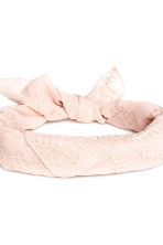 Embroidered hair scarf - Powder - Ladies | H&M CN 3