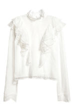 Lace blouse - Natural white -  | H&M 2