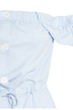 Off-the-shoulder blouse - Light blue - Ladies | H&M 3