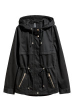 Short hooded parka - Black - Ladies | H&M 3