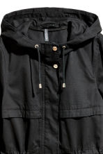 Short parka with a hood - Black - Ladies | H&M CN 4