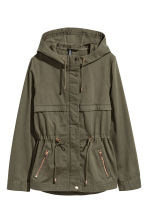 Short hooded parka - Dark khaki green - Ladies | H&M CN 2