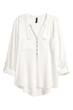 V-neck blouse - White - Ladies | H&M 2