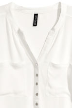 V-neck blouse - White - Ladies | H&M 3